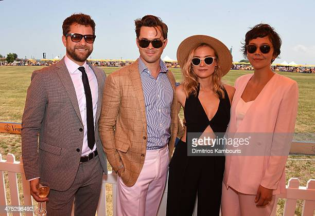 Joshua Jackson Andrew Rannells Diane Kruger and Maggie Gyllenhaal attend the EighthAnnual Veuve Clicquot Polo Classic at Liberty State Park on May 30...