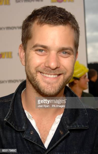 Joshua Jackson arrives for the UK Premiere of The Simpsons Movie at the Vue Cinema The O2 Peninsula Square London