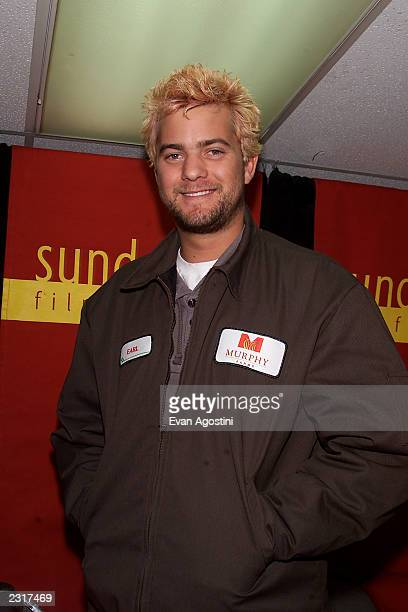 Joshua Jackson at a press conference for 'The Laramie Project' during the 2002 Sundance Film Festival at Park City Utah 1/11/2002 Photo Evan...