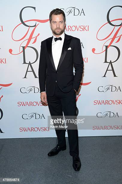 Joshua Jackson poses backstage at the 2015 CFDA Fashion Awards at Alice Tully Hall at Lincoln Center on June 1 2015 in New York City