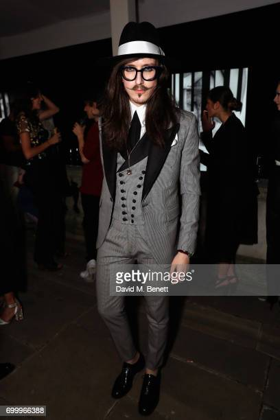 Joshua Kane attends Kate Moss Mario Sorrenti launch of the OBSESSED Calvin Klein fragrance launch at Spencer House on June 22 2017 in London England