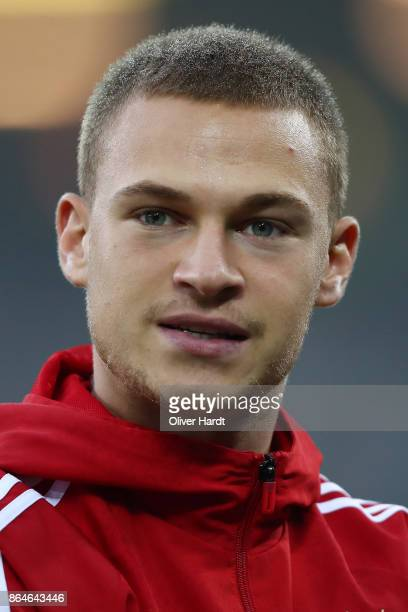Joshua Kimmich of Bayern Muenchen before the Bundesliga match between Hamburger SV and FC Bayern Muenchen at Volksparkstadion on October 21 2017 in...