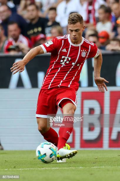 Joshua Kimmich of Bayern Muenchen controls the ball during the Audi Cup 2017 match between SSC Napoli and FC Bayern Muenchen at Allianz Arena on...