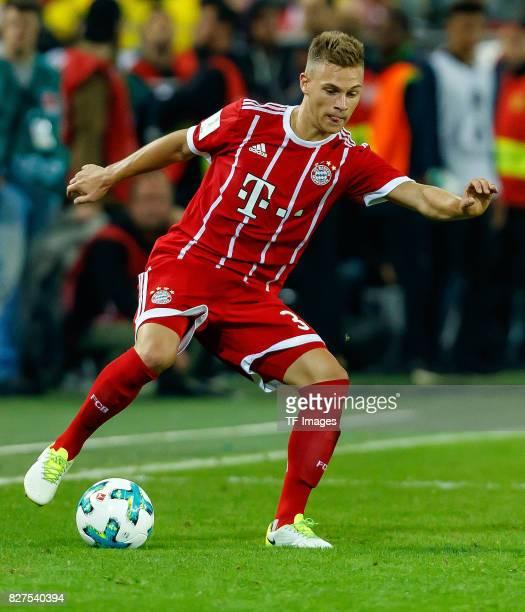 Joshua Kimmich of Bayern Muenchen controls the ball during the DFL Supercup 2017 match between Borussia Dortmund and Bayern Muenchen at Signal Iduna...