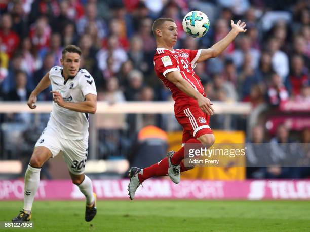 Joshua Kimmich of Bayern Muenchen during the Bundesliga match between FC Bayern Muenchen and SportClub Freiburg at Allianz Arena on October 14 2017...