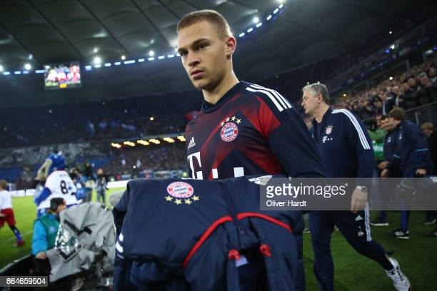 Joshua Kimmich of Bayern Muenchen during the Bundesliga match between Hamburger SV and FC Bayern Muenchen at Volksparkstadion on October 21 2017 in...