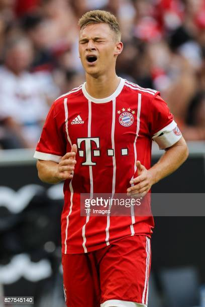 Joshua Kimmich of Bayern Muenchen gestures during the Audi Cup 2017 match between SSC Napoli and FC Bayern Muenchen at Allianz Arena on August 2 2017...