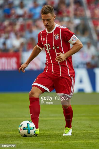 Joshua Kimmich of Bayern Muenchen in action during the Audi Cup 2017 match between SSC Napoli and FC Bayern Muenchen at Allianz Arena on August 2...