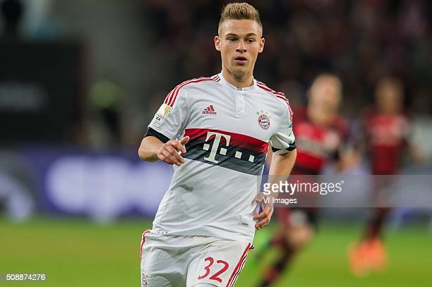 Joshua Kimmich of Bayern Munich during the Bundesliga match between Bayer 04 Leverkusen and FC Bayern Munich on February 6 2016 at the BayArena in...