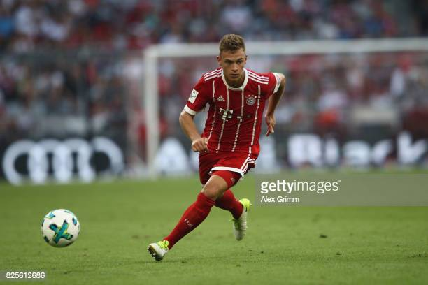 Joshua Kimmich of FC Bayern Muenchen in action during the Audi Cup 2017 match between SSC Napoli v FC Bayern Muenchen at Allianz Arena on August 2...
