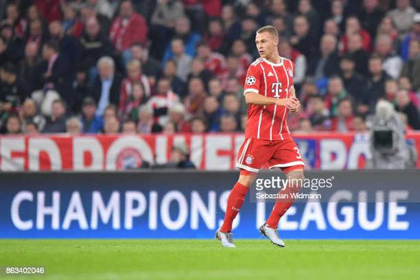 Joshua Kimmich of FC Bayern Muenchen in action during the UEFA Champions League group B match between Bayern Muenchen and Celtic FC at Allianz Arena...