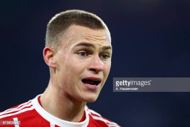 Joshua Kimmich of FC Bayern Muenchen looks on during the Bundesliga match between FC Bayern Muenchen and FC Augsburg at Allianz Arena on November 18...