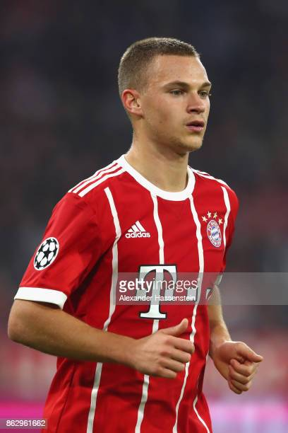 Joshua Kimmich of FC Bayern Muenchen looks on during the UEFA Champions League group B match between Bayern Muenchen and Celtic FC at Allianz Arena...