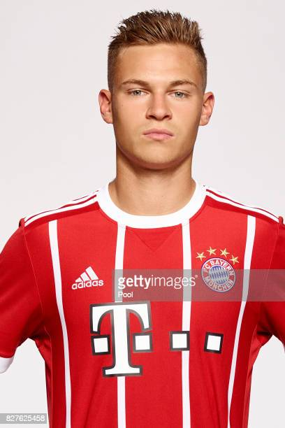 Joshua Kimmich of FC Bayern Muenchen poses during the team presentation at Allianz Arena on August 8 2017 in Munich Germany
