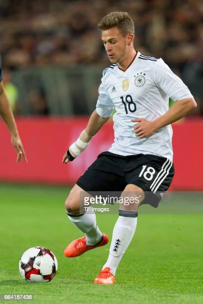 Joshua Kimmich of Germany controls the ball during the international friendly match between Germany and England at Signal Iduna Park on March 22 2017...