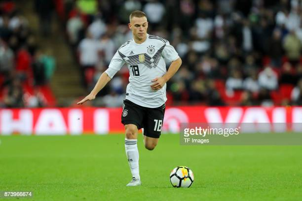 Joshua Kimmich of Germany controls the ball during the international friendly match between England and Germany at Wembley Stadium on November 10...