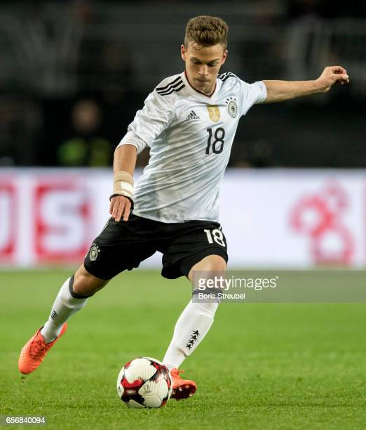 Joshua Kimmich of Germany flanks the ball during the international friendly match between Germany and England at Signal Iduna Park on March 22 2017...