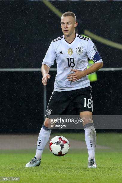 Joshua Kimmich of Germany in action during the FIFA 2018 World Cup Qualifier between Germany and Azerbaijan at FritzWalter Stadium on October 8 2017...