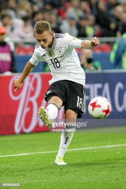 Joshua Kimmich of Germany in action during the FIFA Confederations Cup 2017 group B soccer match between Germany and Chile at 'KazanArena' stadium in...