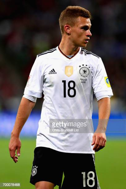 Joshua Kimmich of Germany in action during the FIFA Confederations Cup Russia 2017 Group B match between Germany and Chile at Kazan Arena on June 22...
