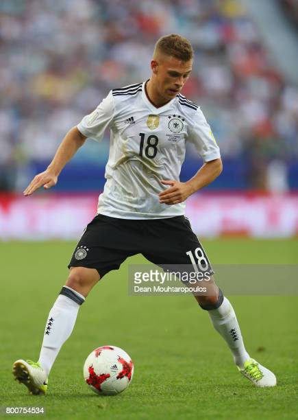 Joshua Kimmich of Germany in action during the FIFA Confederations Cup Russia 2017 Group B match between Germany and Cameroon at Fisht Olympic...