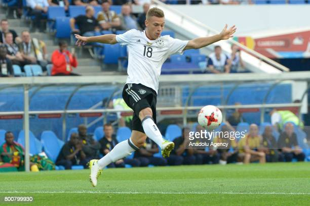 Joshua Kimmich of Germany in action during the FIFA Confederations Cup 2017 soccer match between Cameroon and Germany in Sochi Russia on June 25 2017