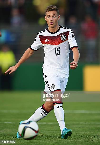 Joshua Kimmich of Germany in action during the International friendly match between U21 Germany and U21 Denmark at Stadion an der Lohmuehle on...