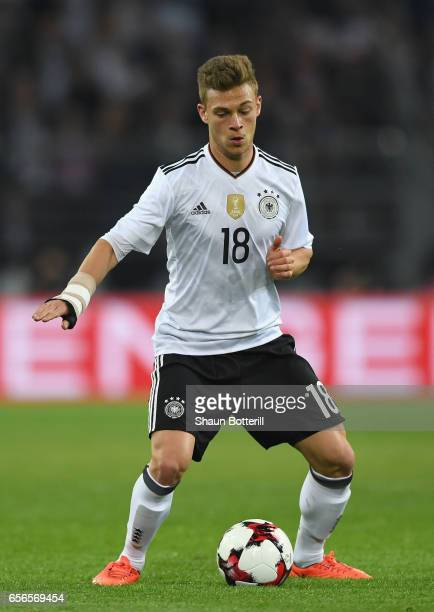 Joshua Kimmich of Germany in action during the international friendly match between Germany and England at Signal Iduna Park on March 22 2017 in...