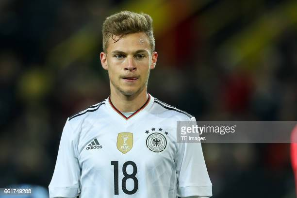 Joshua Kimmich of Germany looks on during the international friendly match between Germany and England at Signal Iduna Park on March 22 2017 in...