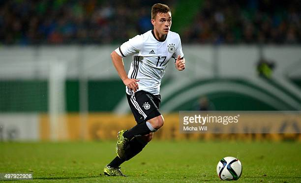 Joshua Kimmich of Germany runs with the ball during the 2017 UEFA European U21 Championships Qualifier between U21 Germany and U21 Austria at Stadion...