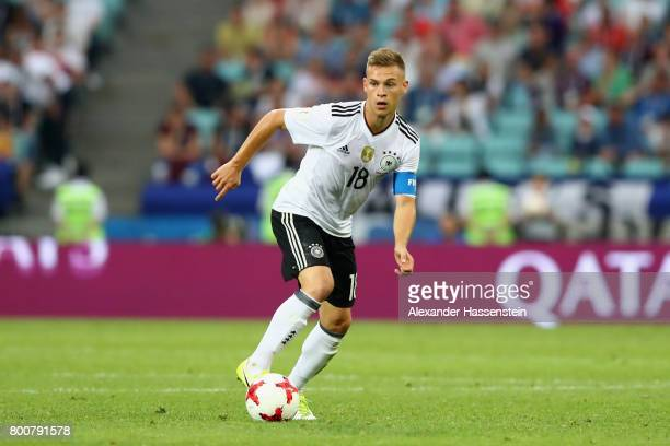 Joshua Kimmich of Germany runs with the ball during the FIFA Confederations Cup Russia 2017 Group B match between Germany and Cameroon at Fisht...