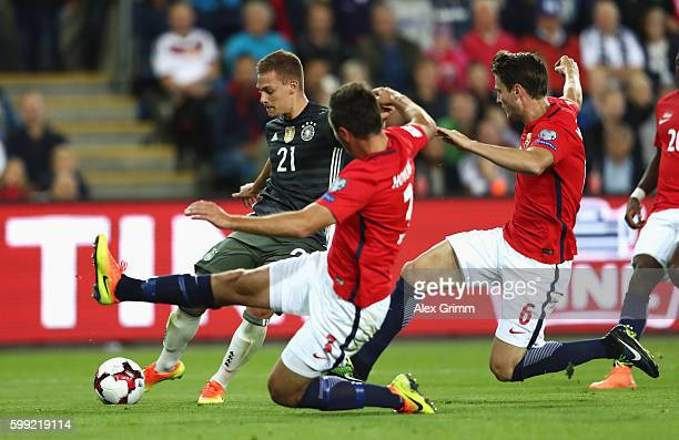 Joshua Kimmich of Germany scores his team's second goal during the 2018 FIFA World Cup Qualifier Group C match between Norway and Germany at Ullevaal...