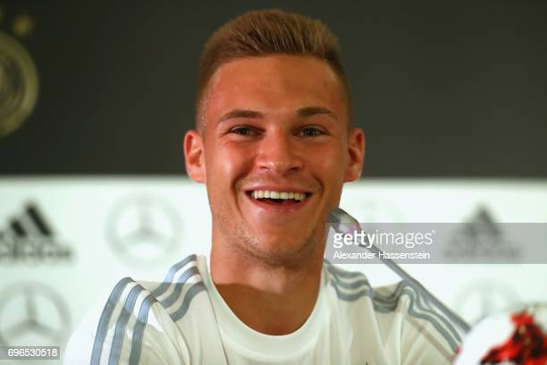Joshua Kimmich of Germany smiles during a Press Conference of the German national team at Radisson Blu Paradise Resort Spa on June 16 2017 in Sochi...