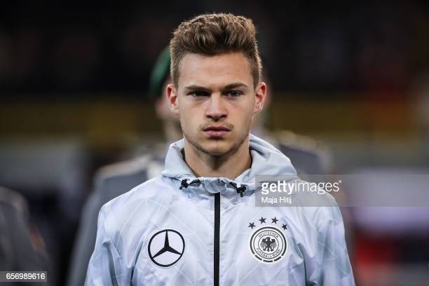Joshua Kimmich of Germany stands prior the international friendly match between Germany and England at Signal Iduna Park on March 22 2017 in Dortmund...