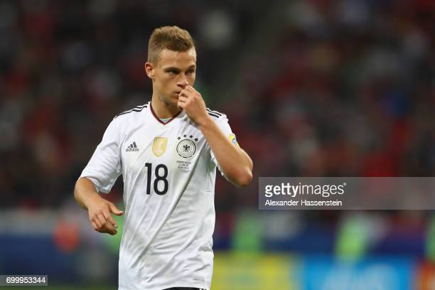 Joshua Kimmich of Germanylooks on during the FIFA Confederations Cup Russia 2017 Group B match between Germany and Chile at Kazan Arena on June 22...