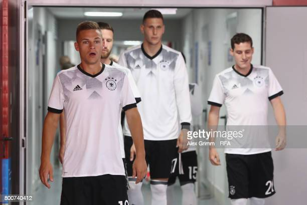 Joshua Kimmich of Grmany walks out of the tunnel to warm up with his Germany team mates prior to the FIFA Confederations Cup Russia 2017 Group B...