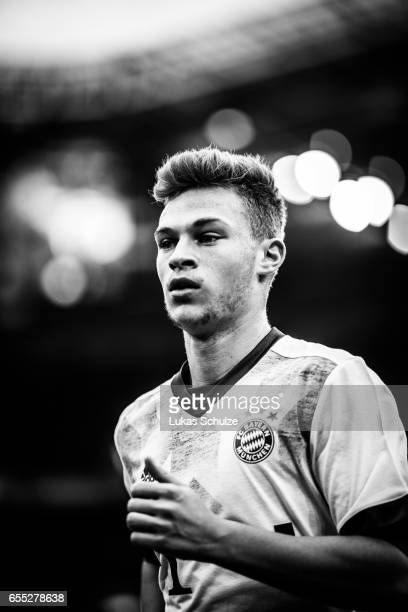 Joshua Kimmich of Munich is seen prior to the Bundesliga match between Borussia Moenchengladbach and Bayern Muenchen at BorussiaPark on March 19 2017...