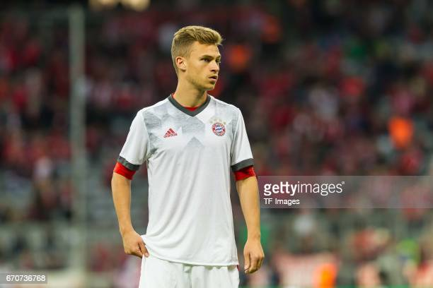 Joshua Kimmich of Munich looks on during the UEFA Champions League Quarter Final first leg match between FC Bayern Muenchen and Real Madrid CF at...