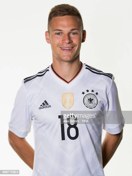 Joshua Kimmich poses for a picture during the Germany team portrait session on June 16 2017 in Sochi Russia
