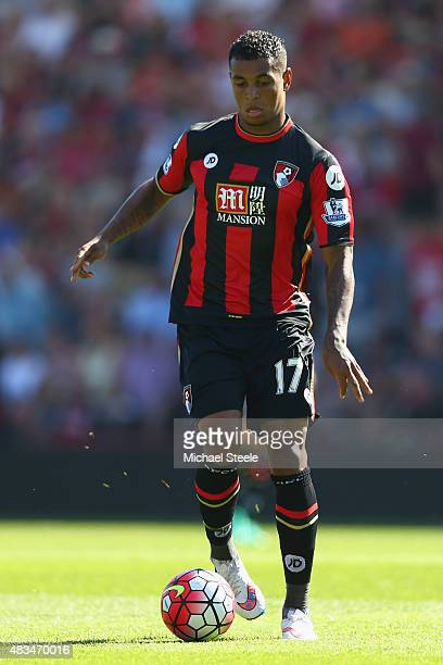 Joshua King of AFC Bournemouth during the Barclays Premier League match between Bournemouth and Aston Villa at the Vitality Stadium on August 8 2015...
