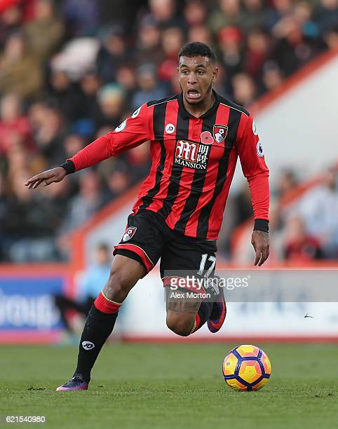 Joshua King of AFC Bournemouth during the Premier League match between AFC Bournemouth and Sunderland at Vitality Stadium on November 5 2016 in...