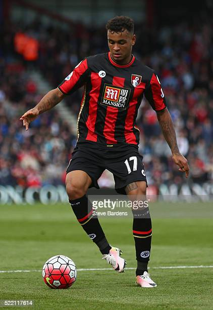 Joshua King of AFC Bournemouth in action during the Barclays Premier League match between AFC Bournemouth and Liverpool at the Vitality Stadium on...