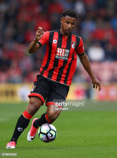 Joshua King of AFC Bournemouth in action during the Premier League match between AFC Bournemouth and Stoke City at the Vitality Stadium on May 6 2017...
