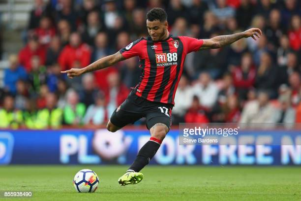 Joshua King of AFC Bournemouth in action during the Premier League match between AFC Bournemouth and Leicester City at Vitality Stadium on September...