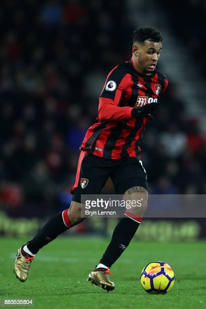 Joshua King of Bournemouth AFC in action during the Premier League match between AFC Bournemouth and Burnley at Vitality Stadium on November 29 2017...