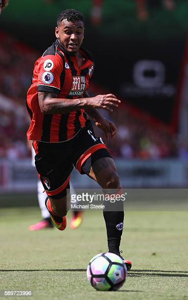 Joshua King of Bournemouth during the Premier League match between AFC Bournemouth and Manchester United at the Vitality Stadium on August 14 2016 in...