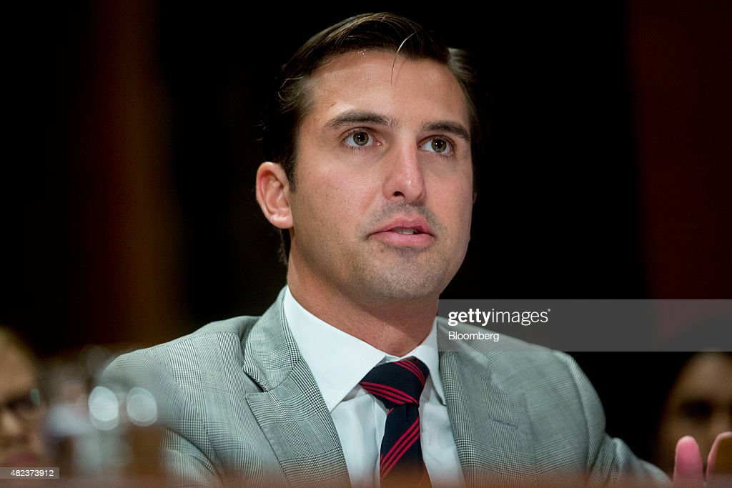 Joshua Kobza chief financial officer of Restaurant Brands International Inc speaks during a Senate Permanent Subcommittee on Investigations hearing...