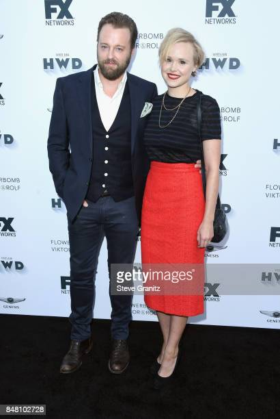 Joshua Leonard and Alison Pill attend FX and Vanity Fair Emmy Celebration at Craft on September 16 2017 in Century City California