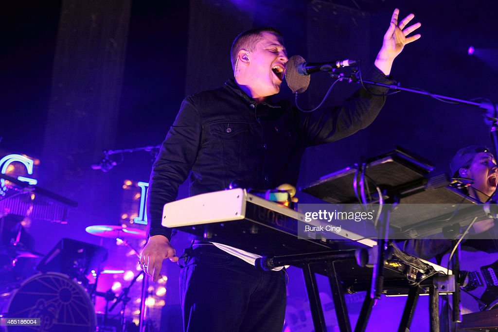 Joshua LloydWatson of Jungle performs on stage at The Roundhouse on March 3 2015 in London United Kingdom