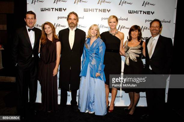 Joshua Maurer Alix Witlin Jeremy Irons Barbara Haskell Joan Allen Tanya Lopez and Adam Weinberg attend GEORGIA O'KEEFFE 'ABSTRACTION' Opening...